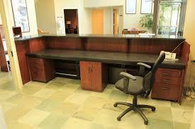 Custom Made Zodiac And Walnut Reception Desk