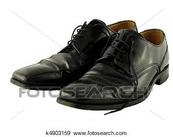 Stock Photograph Of Traditional Black Leather Work Shoes K4803159