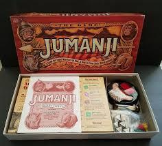 Jumanji Board Game Milton Bradley Original 1995 With Box Complete