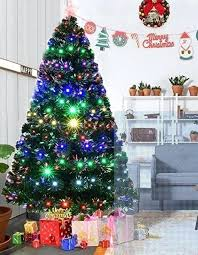 Tabletop Fiber Optic Christmas Tree Artificial Lit Optical Regarding Small Target