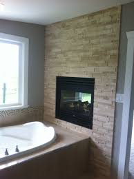 travertine fireplace basement remodel travertine
