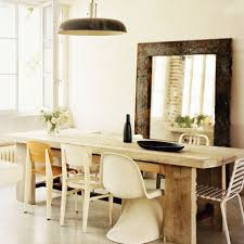 Mismatched Chairs Dining Room White