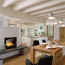 kaminofen als raumteiler in offener küche home home