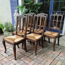 Tall Ladder Back Chairs With Rush Seats by Antique French Dining Chairs Rush Seats Shells Tall Carved Back