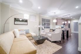 small home design for living room interior using recessed lights