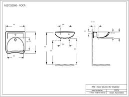 unterfahrbarer waschtisch für barrierefreies bad 64 x 55 cm