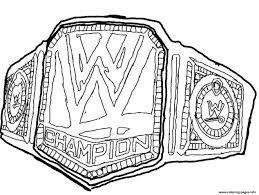 Wwe Belt Coloring Pages Print Download 166 Prints