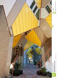 100 Cubic House Houses In Rotterdam Stock Image Image Of House 16673631