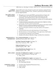 Nurse Resume Templates Experienced Examples Commonpenceco