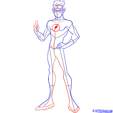 How To Draw Kid Flash Step 4
