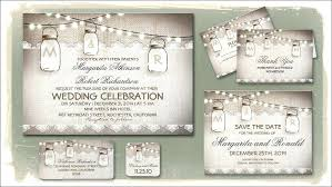 Free Rustic Wedding Invitations Mason Jar Invitation Template Printable Templates