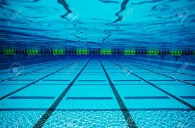 Empty Swimming Pool Underwater View Stock Photo