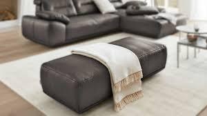 interliving sofa serie 4000 hocker graphitfarbenes longlife leder z39 94 ca 153 x 63 cm