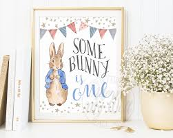 Peter Rabbit Bedding by Some Bunny Is One 1st Birthday Turning One Peter Rabbit