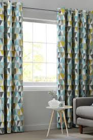 Geometric Pattern Grommet Curtains by These Next Curtains Would Go Great With The Geometric Pattern In