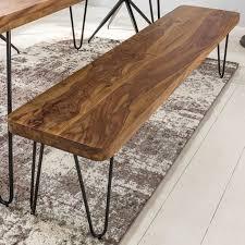 esszimmer bagli sitzbank massiv holz sheesham 180 x 45 x 40 cm holz bank natur produkt küchenbank im landhaus stil swisshandel24 wir verschönern