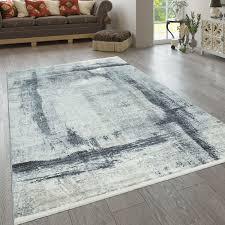 teppich blau grau beige wohnzimmer used design abstraktes muster streifen muster