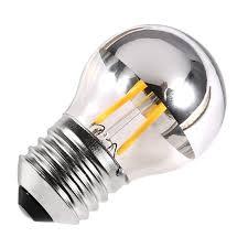 4w vintage led filament bulb e27 g45 golf silver bowl gold