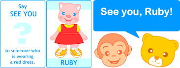 A card game for kids to learn and practise mon ways of saying Goodbye in English