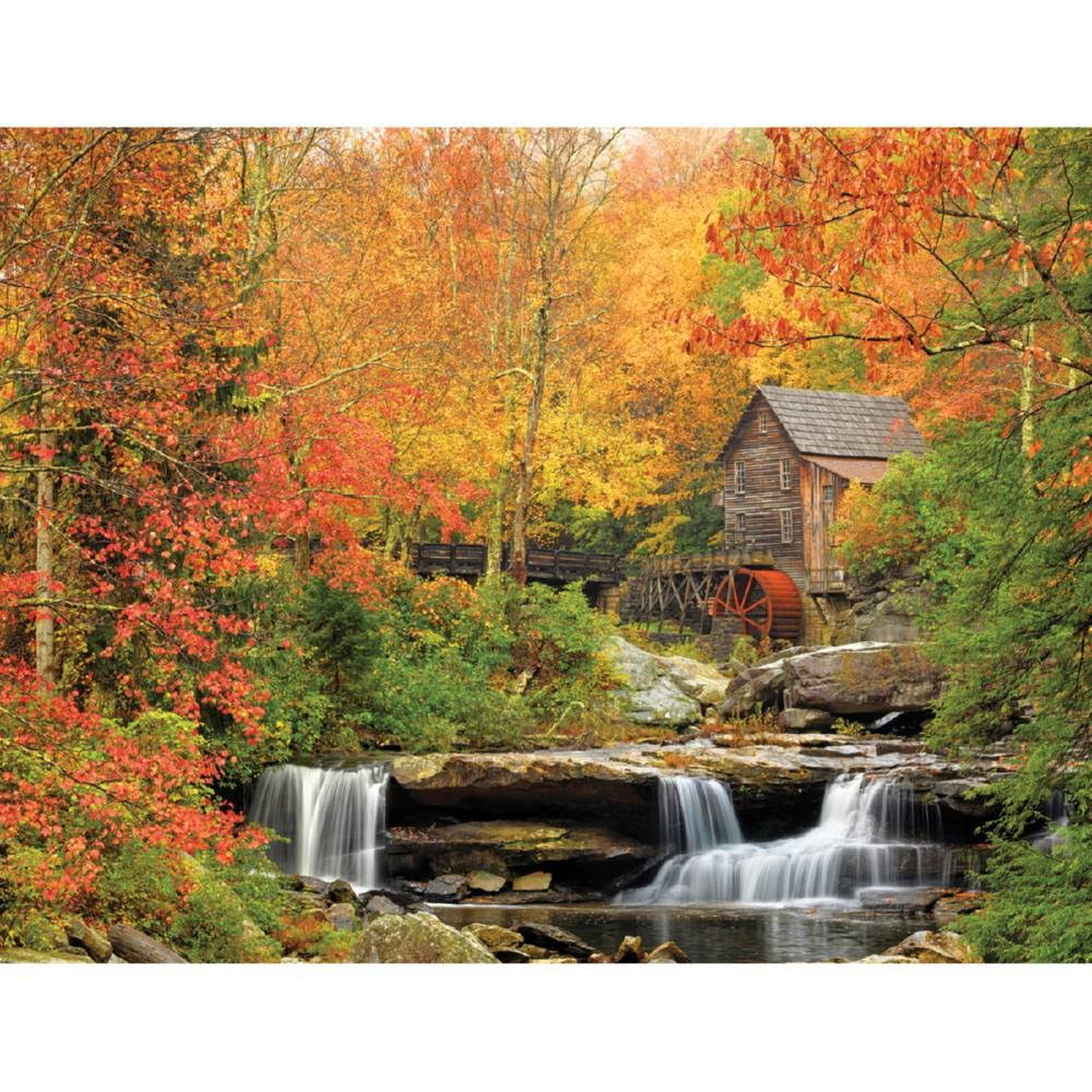 White Mountain Puzzles Old Grist Mill Jigsaw Puzzle - 1000pcs