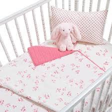 Pink Crib Bedding by Little Auggie Pink Crib Bedding