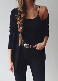 All Black Outfits Clothing Sundress