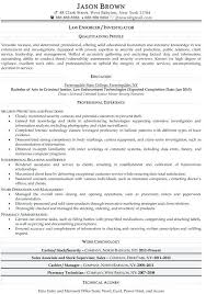 Security Officer Resume From Police Examples Law Enforcer Example A Ficer
