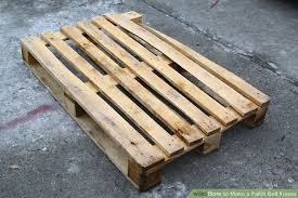 How To Make A Platform Bed Out Of Wood Pallets by How To Make A Pallet Bed Frame 6 Steps With Pictures Wikihow