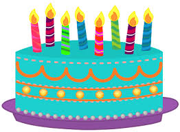 400x293 Birthday cake clipart lots of candles