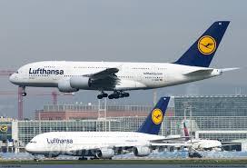 Lufthansa Airbus A380 841 D AIME at Frankfurt Main
