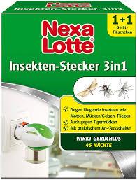 nexa lotte insektenschutz 3 in 1 starterpackung mückenstecker elektroverdfer gegen fliegende insekten wie mücken motten und fliegen in allen