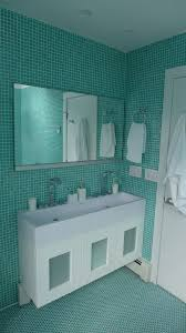 contemporary master bathroom with tile floors by