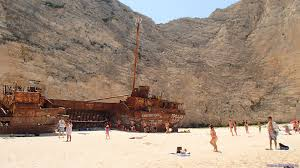 Cruise Ship Sinking Santorini by Zakynthos Navagio Wreck Bay Ship Wreck