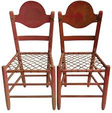 100 Primitive Accent Chairs Folk Art With Woven Rawhide