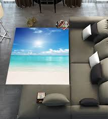 Floor Rugs MatCustom Tropical Beach Area Carpet Modern For Home Dining Room Playroom Living Decoration Size 7x5 Learn More By Visiting