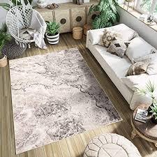 tapiso teppich kurzflor beige braun schwarz modern meliert patchwork marmor optik design wohnzimmer schlafzimmer 200 x 300 cm