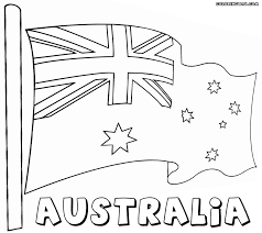 Australian Flag Coloring Pages Within Australia Page