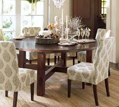 Pottery Barn Aaron Upholstered Chair by Pottery Barn Round Dining Table