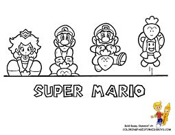 Super Mario Characters Coloring Pages Printable