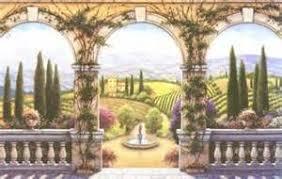 Wallpaper Borders And Murals Tuscan Villa