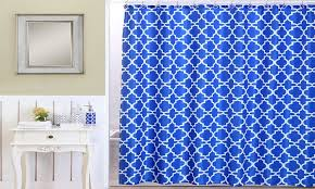 Royal Blue Bathroom Decor by Royal Blue Lattice Bath Set 18 Piece Groupon