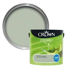 Radiator Cabinets Bq by Crown Breatheasy Mellow Sage Matt Emulsion Paint 2 5l