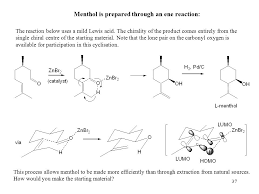 Chair Conformations Of Menthol by 1 Professor M Wills Ch3b0 Understanding Organic Synthesis Year 3