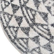runde badematte mit muster schwarz weiß ø120 cm