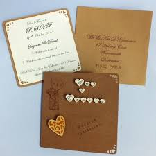 Best Lovely Handmade Wedding Invitations Rustic Creativity For Your Ideas