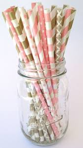 Pink And Gold Birthday Decorations Canada by 25 Unique Paper Straws Ideas On Pinterest Diy Crafts Using