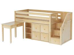 Low Loft Bed With Desk Plans by Bedroom Fabulous Maxtrix Great 4 Loft Bed With Desk Bookcase