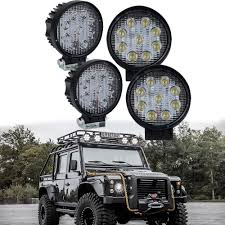 4 INCH 27W Red Round Spot CREE LED Work Lights Car Offroad Truck ... Turbosii Pair 7 Inch Led Light Bar Off Road Driving Fog Lights Super 10w Roundsquare Spotflood Beam Led Work For Car Motorcycle Land Rover Defender Offroad Truck 4x4 27w Round Spot Lightfox 20 Inch 126w Cree 4wd Flood 4 54w Flood Dc 1030v 172056 Lamp 2 Cree For Dicn 1 5in 45w Floodlights 45w Working 1pcs 5inch 18w Pod 2pcs 27w Tractor Boat
