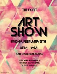 ART SHOW Art Exhibition Flyer Template