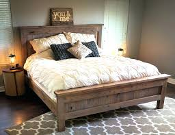 Full Image For Rustic Bed Frames Sale Diy Frame Plans Farmhouse King